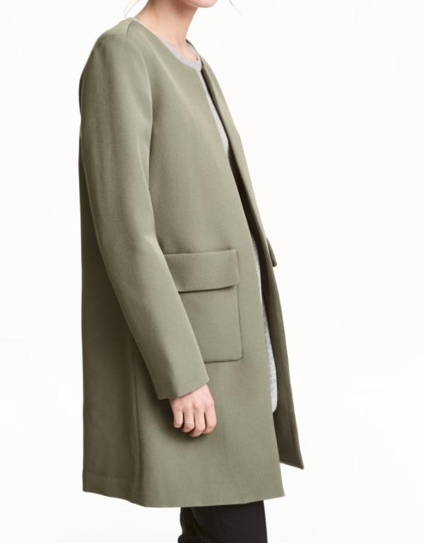 HM khaki coat