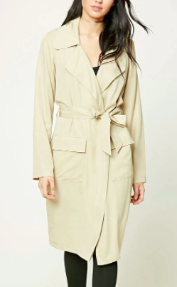Forever 21 Belted Trench Jacket