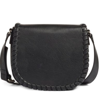 Phase 3 Whipstitch Faux Leather Saddle Bag