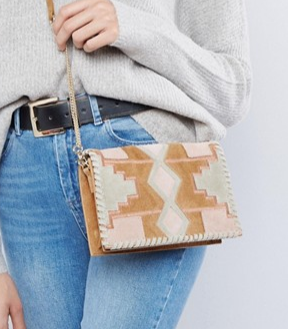 ASOS Suede Patchwork Cross Body Bag