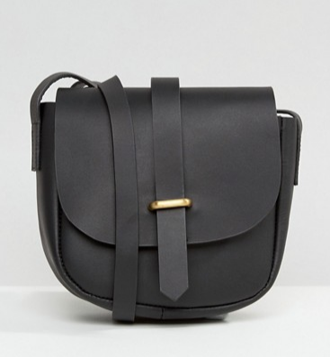 ASOS Clean Leather Saddle Bag