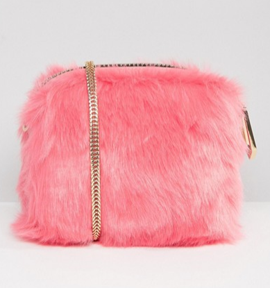 River Island Mini Faux Fur Cross Body Bag