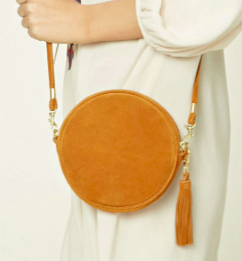 Forever 21 Genuine Suede Crossbody