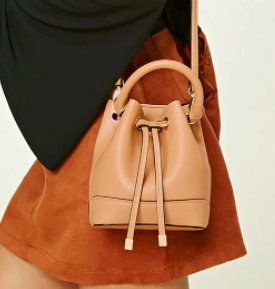 Forever 21 Faux Leather Mini Bucket Bag