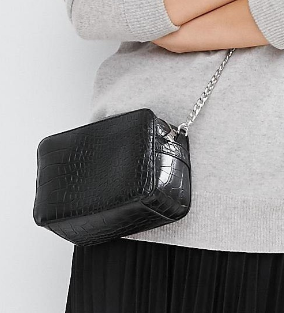 ASOS Croc Boxy Cross Body Bag