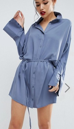 ASOS Shirt Dress with Oversized Cuff
