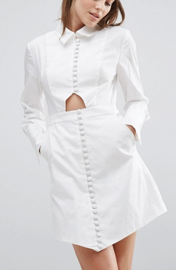 C/meo Collective Let It Go Long Sleeve Shirt Dress