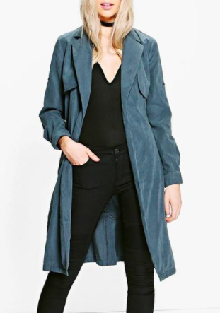 Boohoo Annabelle Woven Trench