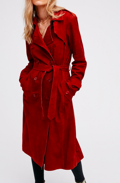 FP Suede Trench