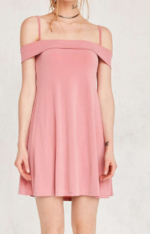 Motel Widuri Cold Shoulder Slip Mini Dress