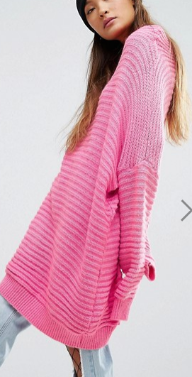 Mad But Magic Oversized Sweater Dress In Chunky Rib
