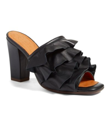 Aikiki Ruffled Square Toe Mule