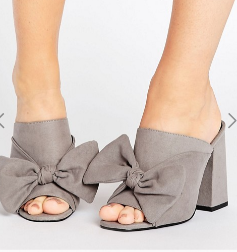 New Look Wide Fit Bow Mule