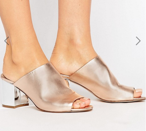 River Island Mule With Metallic Heel