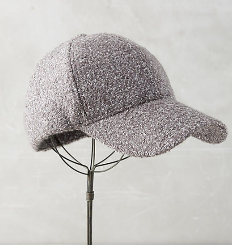 Anthropologie Shined Boucle Baseball Cap