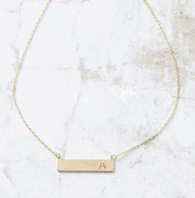 UO Initial Bar Necklace