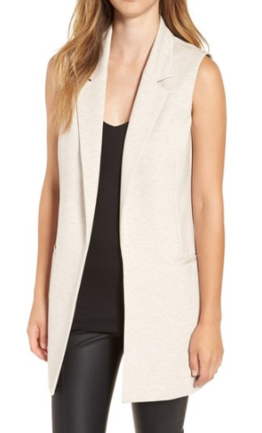 Leith Stretch Ponte Long Vest
