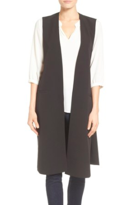 Halogen® Long Twill Vest