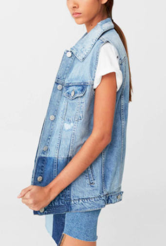 Mango Light denim gilet