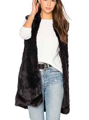 LAURENT FAUX FUR VEST  JOHN & JENN BY LINE