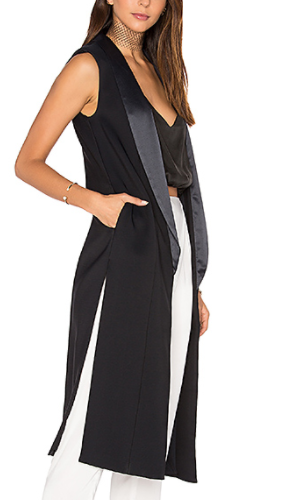 SIDE SLIT COLUMN VEST  KENDALL + KYLIE
