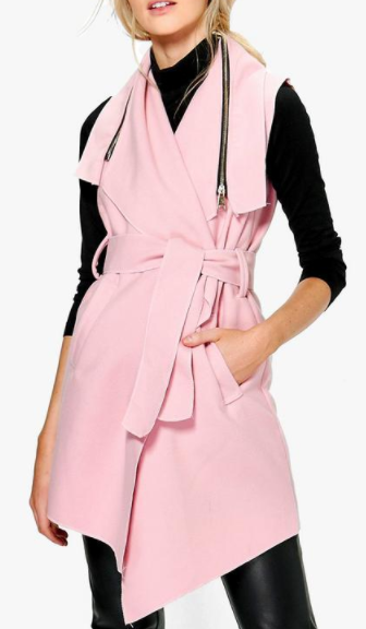Boohoo Annabelle Sleeveless Coat With Zip