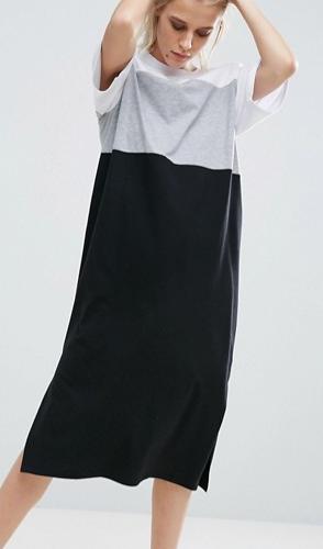 ASOS Color Block Midi Dress
