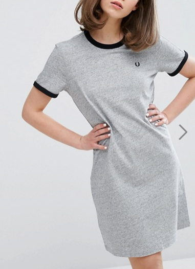 Fred Perry Authentic Ringer T Shirt Dress