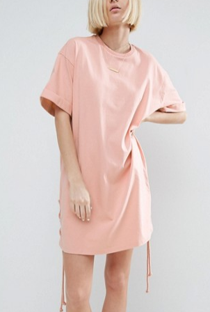 ASOS T-Shirt Dress With Lace Up Sides