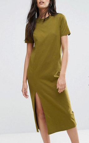 ASOS TALL Ultimate T-Shirt Midi Dress with Side Split