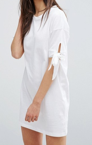 ASOS T-Shirt Dress with Bow Sleeve