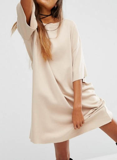 ASOS ECO T-shirt Dress in Organic Cotton and Vegetable Dye