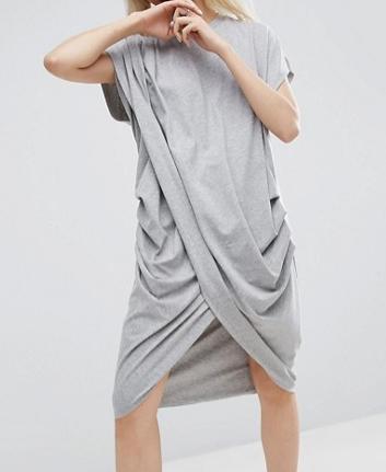 ASOS WHITE Cross Wrap Midi Dress
