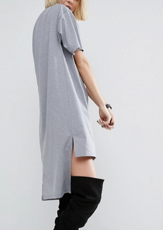 ASOS T-Shirt Dress with Split Hem Detail