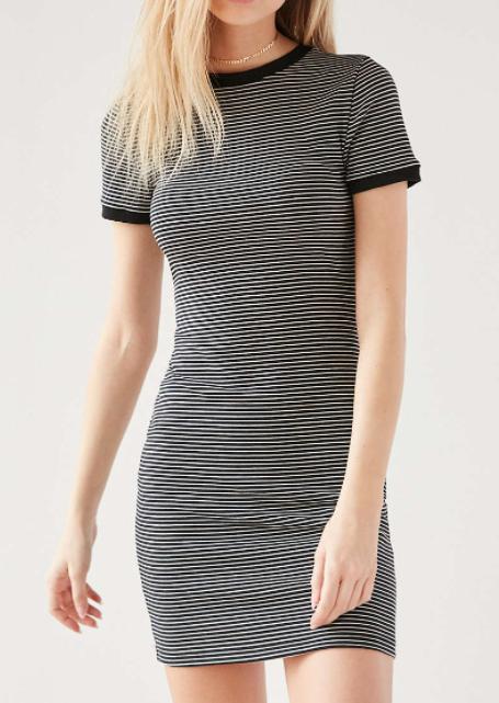 BDG Striped Bodycon Tee Dress