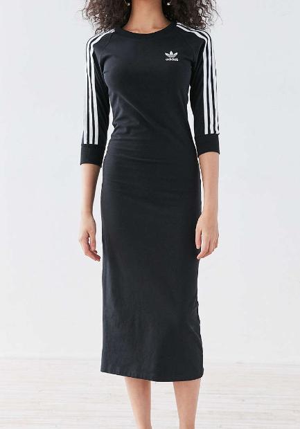 adidas Originals 3 Stripe Midi Dress
