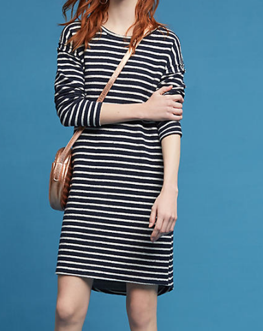 Sol Angeles Striped Terry Cocoon Dress