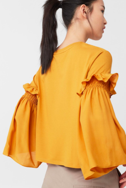 Mango Flared sleeve t-shirt