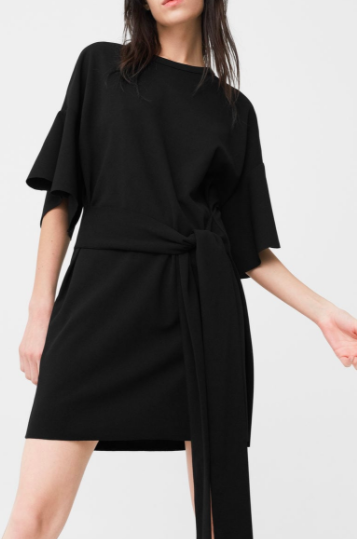 Mango Frilled belt dress