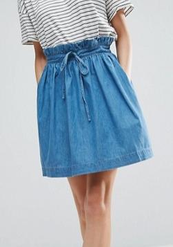 ASOS Denim Paper Bag Mini Skirt