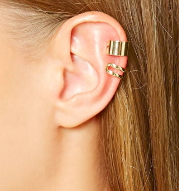 Forever 21 Cutout Ear Cuff Set