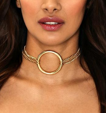 Nasty Gal CIRCLE DETAIL CHAIN CHOKER