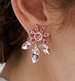 ASOS Jewel Flower Stud Earrings