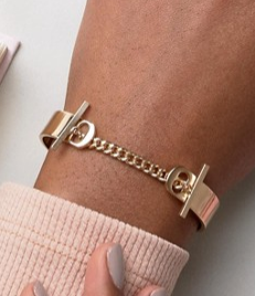 ASOS Toggle Chain Cuff Bracelet