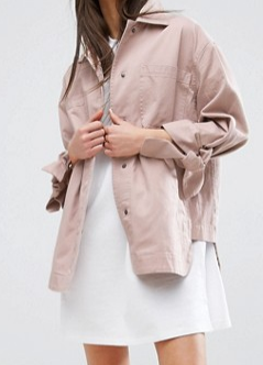 ASOS PETITE Jacket with Bow Sleeve