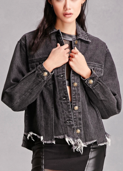 Forever 21 Raw-Hem Denim Jacket
