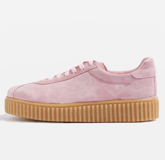 Topshop CALYPSO Lace Up Flatform Trainers