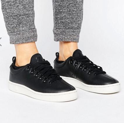 K-Swiss Roy Ankle Sock Sneakers In Black