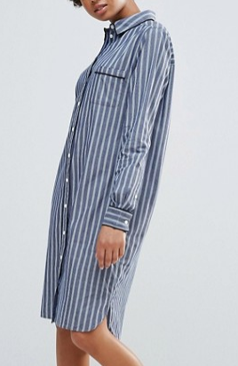 Ganni Sophie Striped Shirt Dress
