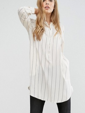 J.D.Y Stripe Tunic with Pockets
